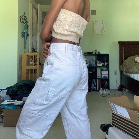 Brandy Melville Off White Painter Pants